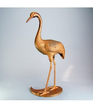 Статуэтка бронзовая, Розовый фламинго