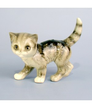 Статуэтка серый котенок Goebel