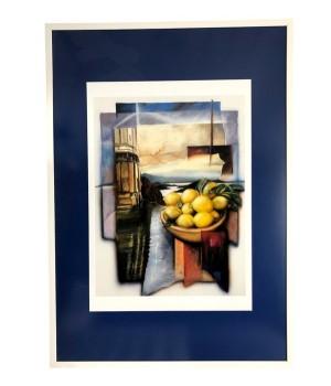 Репродукция, абстракция, лимоны