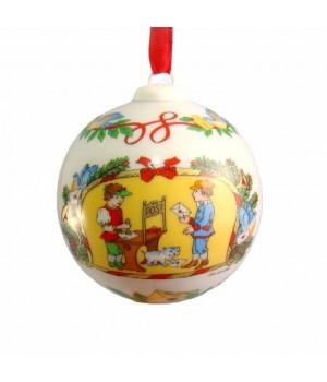 Новогодний фарфоровый шар Hutschenreuther, 2000 год