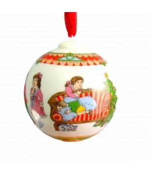 Новогодний фарфоровый шар Hutschenreuther, 2004 год