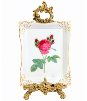 Фарфоровое панно Роза, Gerold Porcellan