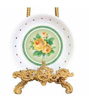 Блюдо Желтые Розы Furstenberg