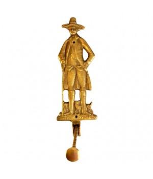 Крючок, вешалка для плечиков Кавалер, бронза