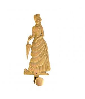 Крючок, вешалка для плечиков Дама, бронза