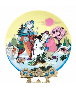 Декоративная тарелка Rosenthal, Времена года, Зима