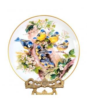 Декоративная тарелка Hutschenreuther, Семья лазоревки