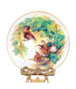 Декоративная тарелка Hutschenreuther, Маленькие крапивники в листве