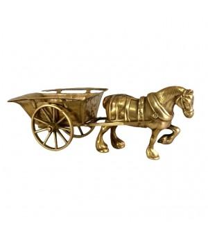 Конь бронзовый с повозкой