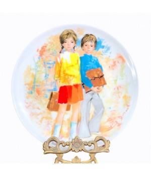 Декоративная тарелка, Limoges, Лимож, Emilie et  Phillippe