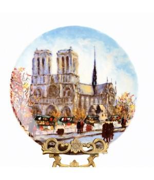 Декоративная тарелка, 12 достопримечательностей Парижа Собор Парижской Богоматери, Дали Paris