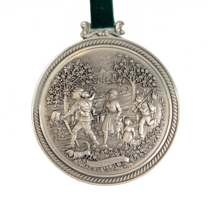 Медальон, олово Времена Года, Fruhling, Весна