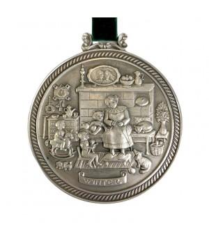 Медальон, олово Времена Года, Winter, Зима
